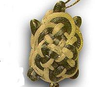 趣味中国结编织 双龟吊千金手工制作