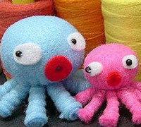 不织布diy可爱的八爪鱼 不织布制作章鱼教程