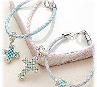 十字架项链手链的手工串珠制作方法