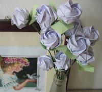 一款全手工的玫瑰花折纸教程(附视频)