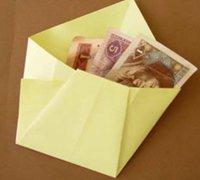 红包的快速折法 折简易钱包的方法