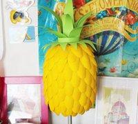 逼真的菠萝台灯DIY教程 一次性汤匙变废为宝