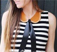 皮革领子DIY方法 手工制作假领子