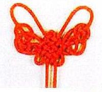 蝴蝶结的打法 中国结吉祥结的编织教程