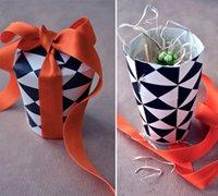 用一次性纸杯制作创意礼盒diy教程