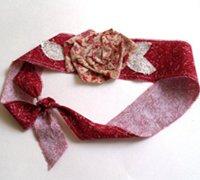 手工制作素雅美丽的玫瑰花装饰发箍