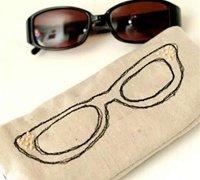 眼镜刺绣图案眼镜袋diy教程 布艺眼镜袋制作