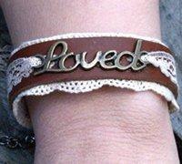 手工制作优雅唯美又不失豪放的牛皮蕾丝手环、手链