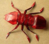折纸蚂蚁的折纸方法 昆虫折纸教程