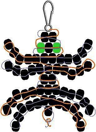 图解教程(带纸样) 用中国结编织的蝴蝶结挂饰手工