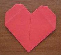 简单的心型折纸 心型折纸图解教程