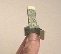 用纸币折叠钻石戒指 纸币折纸戒指