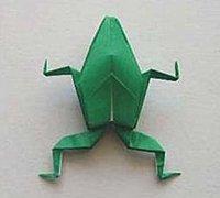 一款逼真的立体青蛙的折法 动物折纸教程