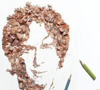 铅笔屑拼贴 用铅笔屑变成美丽的图画
