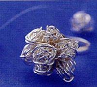 """""""银色世界""""饰品制作 用鱼线制作弹性质感的戒指和项链"""