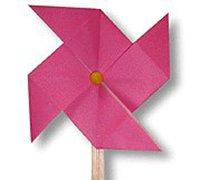 折纸风车的折法 纸风车的做法