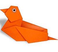 鸳鸯的折法 动物折纸教程图解