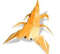 蝎子的折法 昆虫折纸教程图解