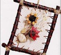 用树枝和干花DIY创意装饰画