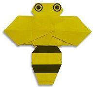 小蜜蜂的折纸方法 昆虫折纸教程