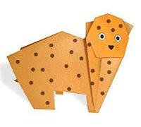 豹子的折纸图解 动物折纸教程