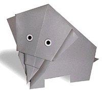 大象的折纸方法 动物折纸教程