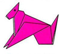 小狗手工折纸 动物折纸教程