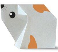 可爱的仓鼠折纸方法图解 动物折纸教程