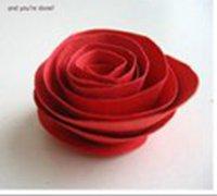 最简单的纸玫瑰制作 装饰你的小屋