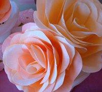 皱纸玫瑰花手工制作方法 纸花diy教程