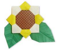 向日葵的手工折纸方法 向日葵儿童折纸