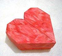心形盒子的折法 折纸纸盒的手工折纸教程