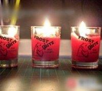 烛光晚餐的利器 diy浪漫的玻璃杯蜡烛
