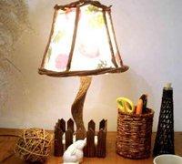 田园风创意台灯 唤起心中美妙的感觉