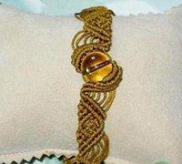 中国结斜卷结的编法 斜卷结编织手链