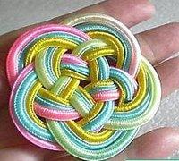 十五孔龙目结的打法 中国结杯垫的编织方法
