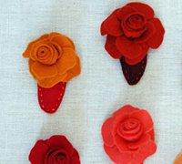 漂亮的不织布玫瑰头饰 让你更加耀眼