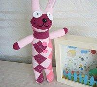可爱的袜子娃娃制作教程 兔子玩偶的制作