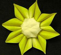 太阳花的手工折纸 折纸太阳花的图解教程