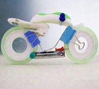 用办公用品DIY创意摩托车模型摆件