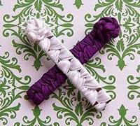 可爱的小花编织发卡的DIY教程