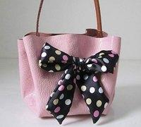 手工DIY简约时尚的韩版皮艺包包