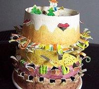 一次性纸杯DIY 纸杯制作生日蛋糕