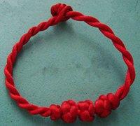 红绳手链的简单编法 中国结手链的教程