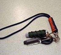 很漂亮的中国结双色钥匙链的编织方法