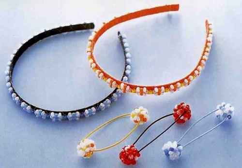 美丽的手工串珠公主发夹的手工教程