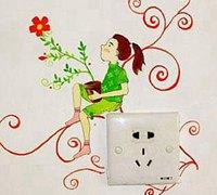童心无限的墙绘 绘在墙上的童真