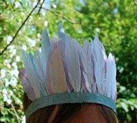 漂亮的羽毛小发冠 DIY浪漫色彩的羽毛发饰