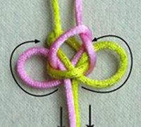 逆向蝶形小结的编法 蝶形小结的逆向走线方法