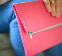 简洁时尚的皮革折叠手拿包手工diy教程